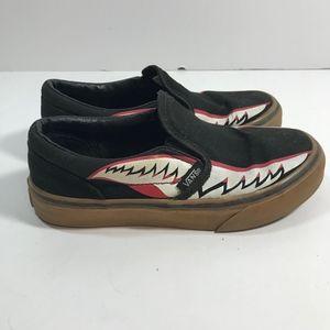 Vans Boys' Classic Slip On Black Shoes Size 13.5